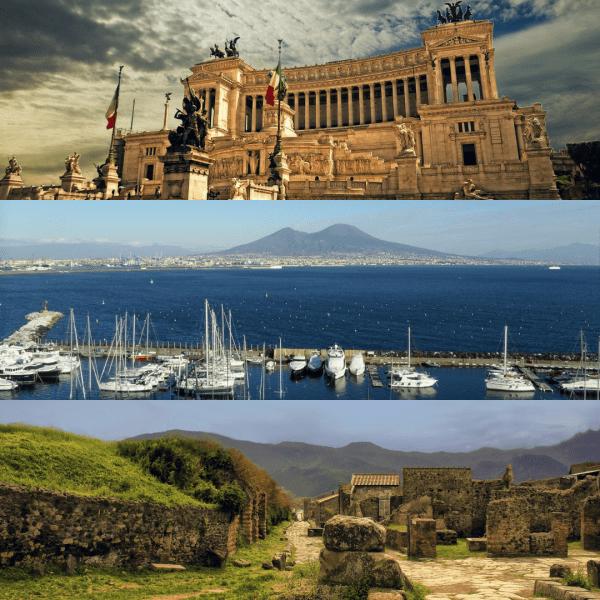 Roma + Nápoles + Pompeya